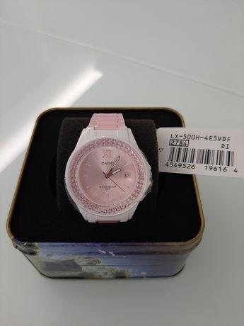 Zegarek CASIO LX-500H-4E5VEF różowy cyrkonie