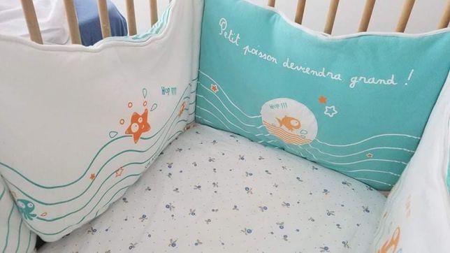 Proteção para cama de grades (berço) de bebé
