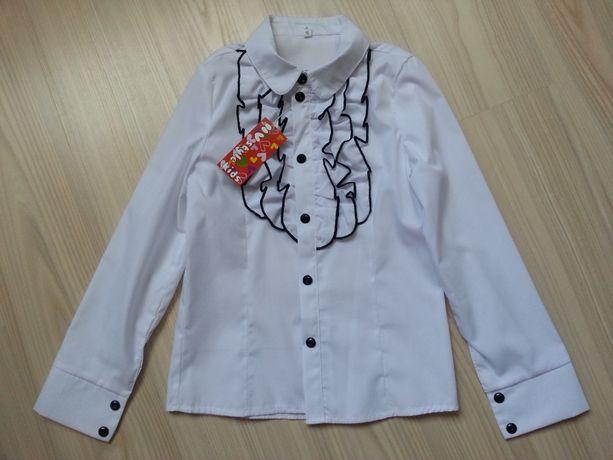 Нарядная блузка в школу для девочки р.140