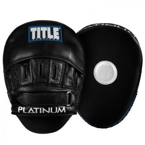 Оригинальные Гнутые Лапы TITLE Platinum Punch Mitts 2.0 - Black/Blue