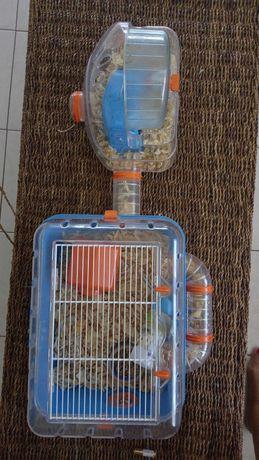 Gaiola hamster com pouco usso