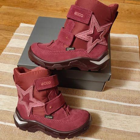 Зимние ботинки Ecco сапоги девочке Экко