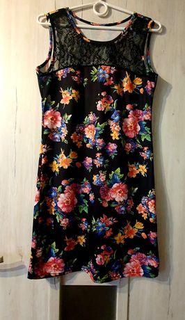 Sukienka kwiaty M druga gratis
