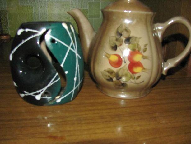 Чайник керамический + аромолампа + графин