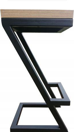 Hoker stołek barowy industrialny lift metal typu Z