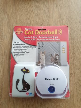 Dzwonek bezprzewodowy dla rzwierząt psa kota Cat Door Bell