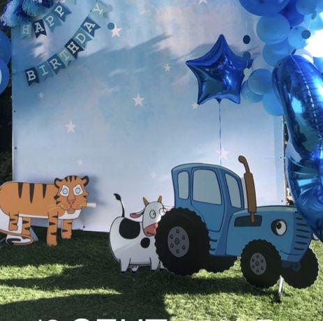 Синий трактор фотозона