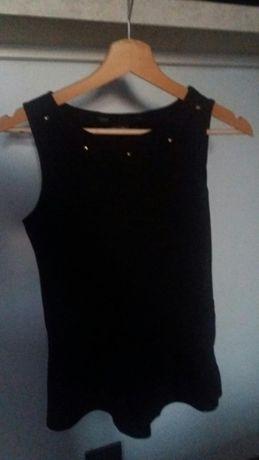Czarna bluzka z baskinką rozmiar 36