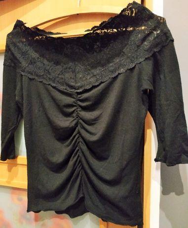 Czarna bluzka bawełniana