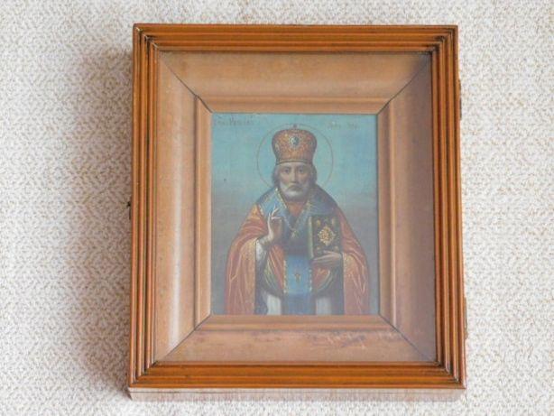 Старинная икона Николай Мирликийский Чудотворец