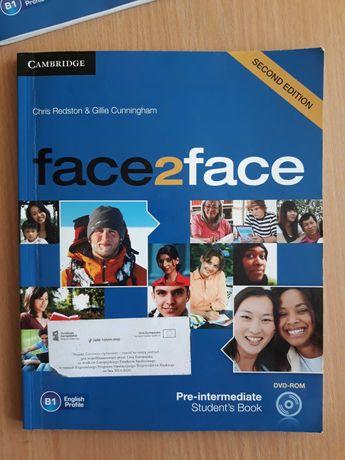 Podręcznik do angielskiego face2face B1 plus cwiczeniówka