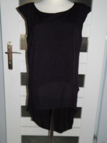 czarna przedłużana bluzka 38