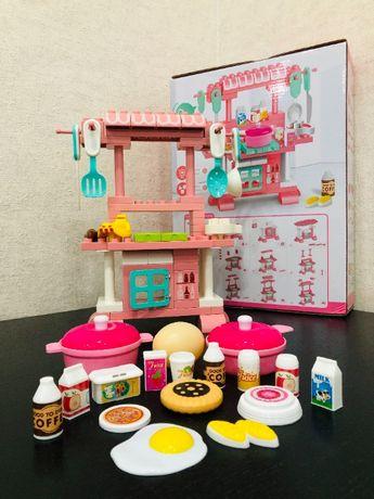 Игровой набор Кухня. Детская игрушечная кухня конструктор для девочек