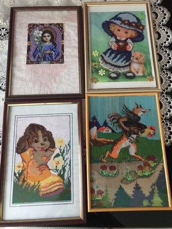 Картины бисером и вышитые
