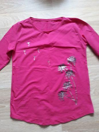 Nowa bluzka fuksja bawełna dres cienki 38-40-42