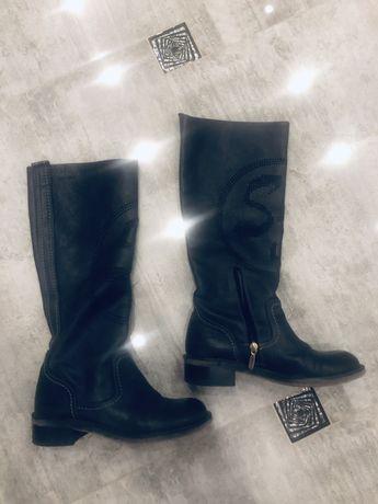 Сапоги ботинки кожаные 36 размер весна/осень деми