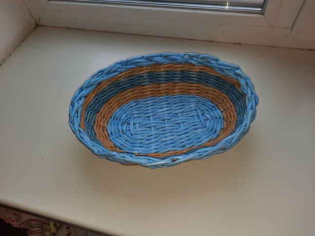 Хлебница из бумажной лозы
