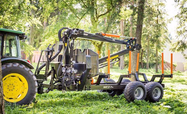 Przyczepa leśna BMF 12T2 Pro z Żurawiem BMF 750