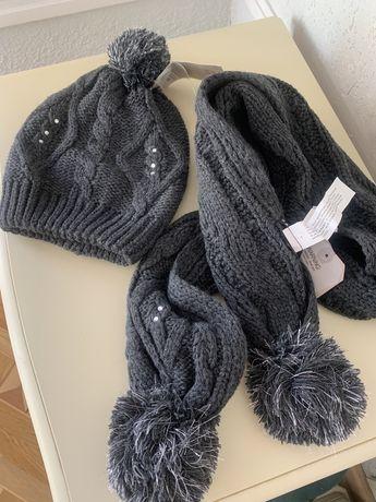 Новый комплект Zara (шапка, шарф)