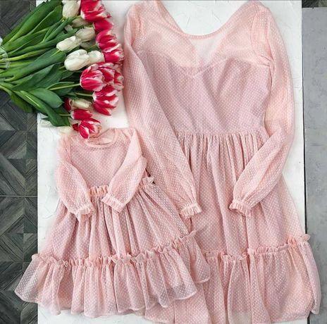 Плаття Family Look для мами і доньки, розмір S та 80