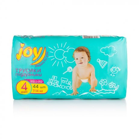 Подгузники-трусики Joy run and fun 44 шт,размер 4. Распродажа