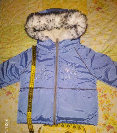 Зимняя курточка на рост 68 см