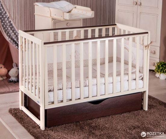 Кроватка детская Twins pinoсchio маятник/ящик+ матрас 2-х сторонний