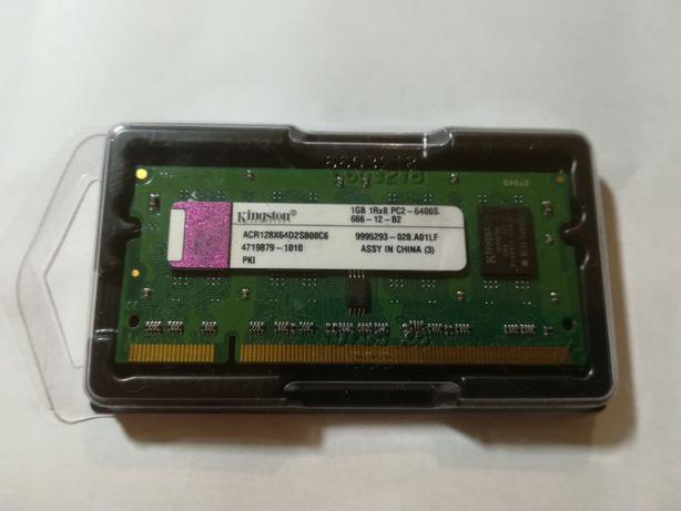 Pamięć RAM Kingston 1GB 1Rx8 PC2 6400S - 800MHz - SODIMM