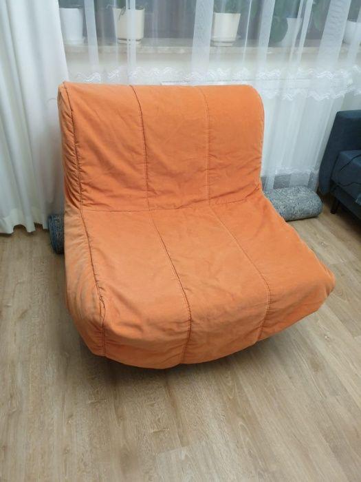 Fotel rozkładany IKEA LYCKSELE LÖVÅS + pokrowiec i pojemnik na pościel Lublin - image 1