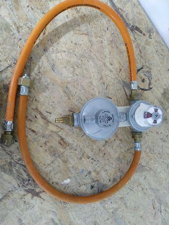 Reduktor automatyczny na dwie butle gazu 50mbar