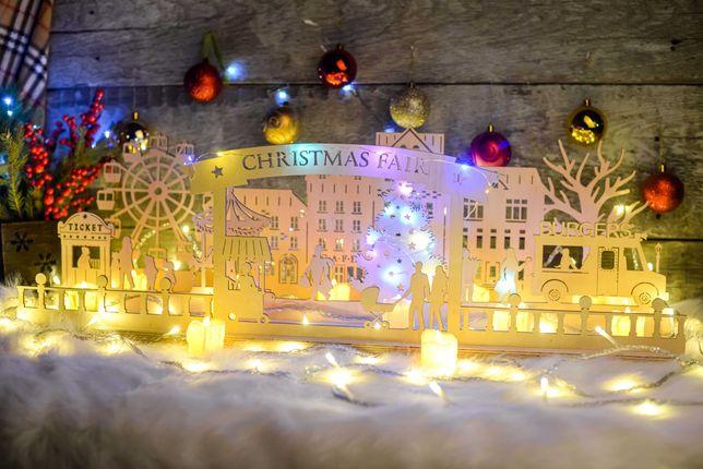 """Новогодний декор на окно """"Рождественская ярмарка""""/украшение витрины"""