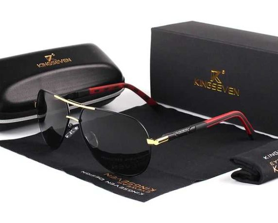 Okulary przeciwsłoneczne pilotki aviator polaryzacyjne KINGSEVEN