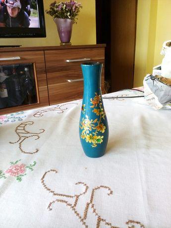 prl wazon laka turkus złocony wys 14,5 cm