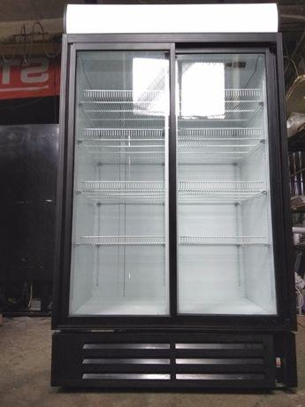 Вітрина - шафа холодильна для пива. Скляні двері, повністю робоча