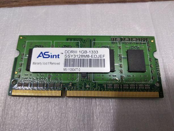 Sodimm DDR3 1 GB , память для ноутбука ДДР3 1 ГБ