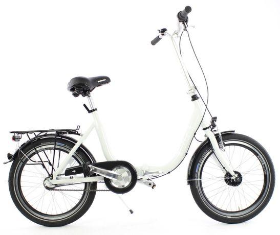 Składany rower aluminiowy 3 biegi Shimano niemiecki MIFA z prądnicą