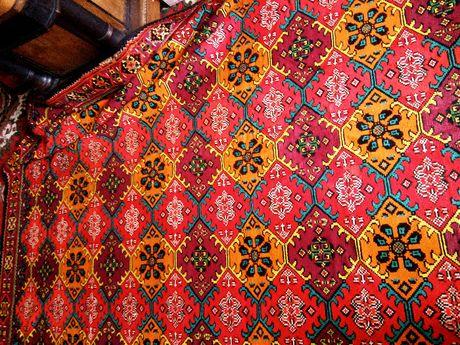 Ковер Вьетнам килим гобилен габилен картина дорожка антикваріат вінтаж