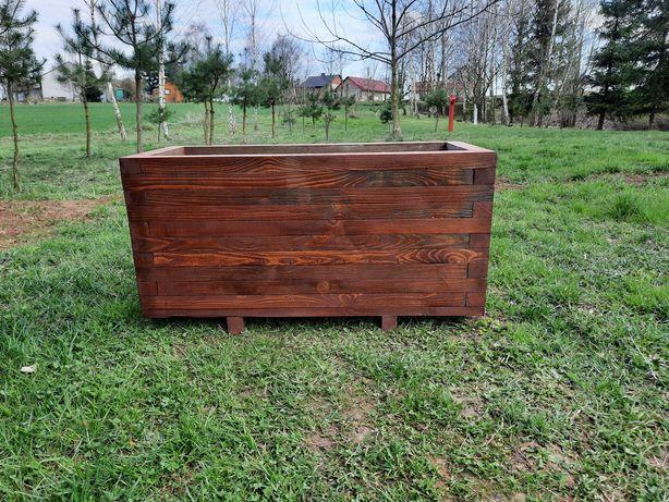 Własnorecznie robiona Donica drewniana 90x40