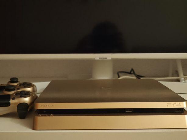 PlayStation 4 SLIM Gold Limited Edition 500 GB, 2 pady