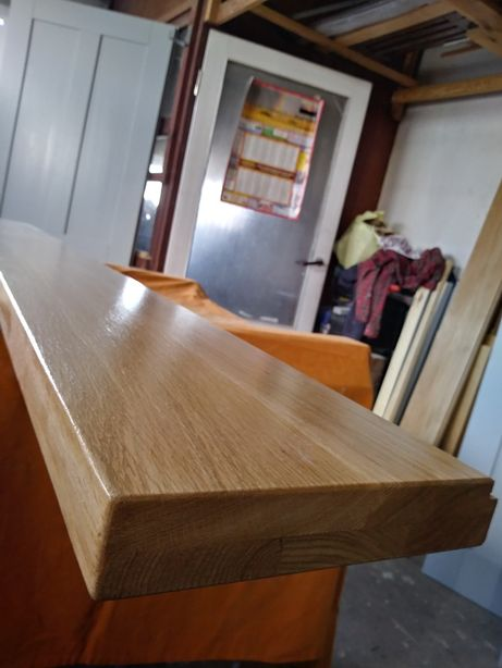 Parapety dębowe z litego drewna