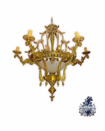 Антикварная бронзовая люстра бронзовый светильник антиквариат Киев Укр