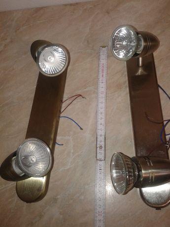 lampki ścienne kinkiety złoty srebrny 3szt