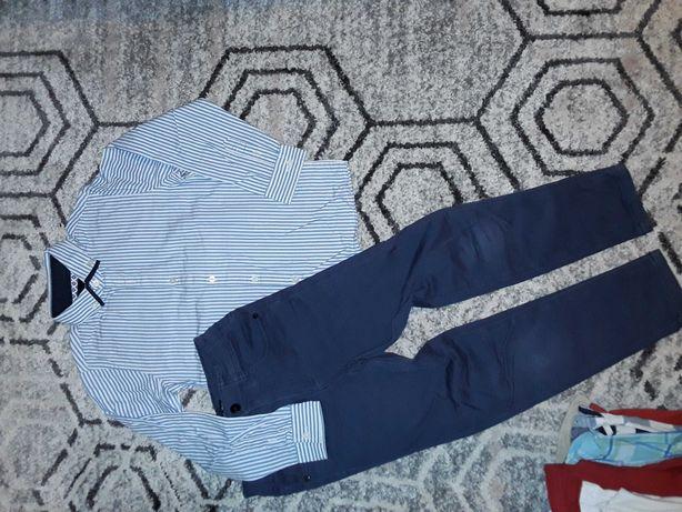 Zestaw r.122 spodnie +koszula