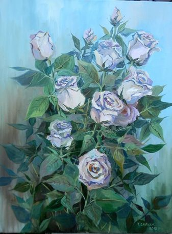 Картина. Троянди