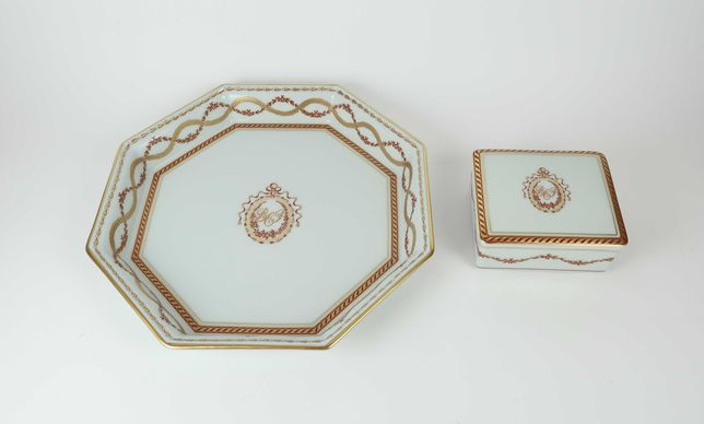 2 peças em porcelana Vista Alegre BCP