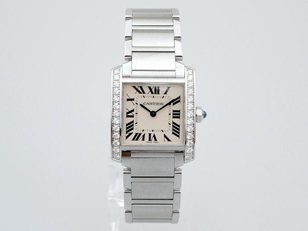 Cartier Tank Francaise Steel & Diamonds Ladies W4TA0009