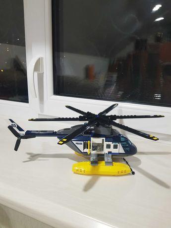 Lego Лего вертолет. Lego City. Лего Сити. Полиция.