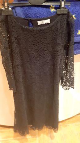 Sukienka koronkowa czarna 158/164