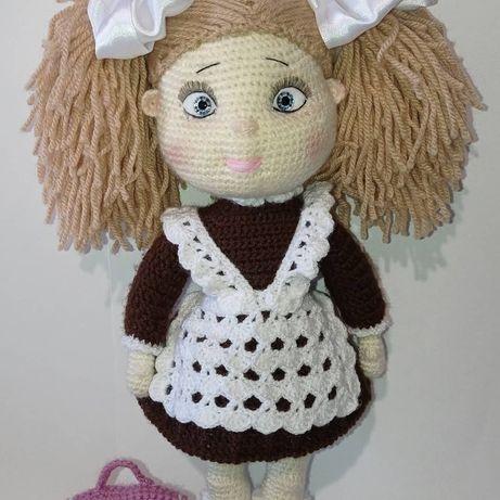 Кукла школьница, Пикачу, умная сова, и другие игрушки ручной работы