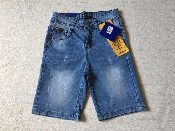 Джинсовые шорты на мальчика/хлопчика/подросток/підліток/ 128-152